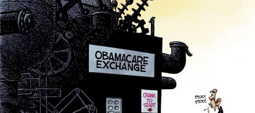 Obamacare Exchange (Cartoon)