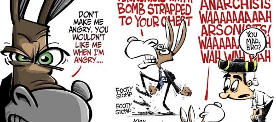 Democrats hulk out (Cartoon)