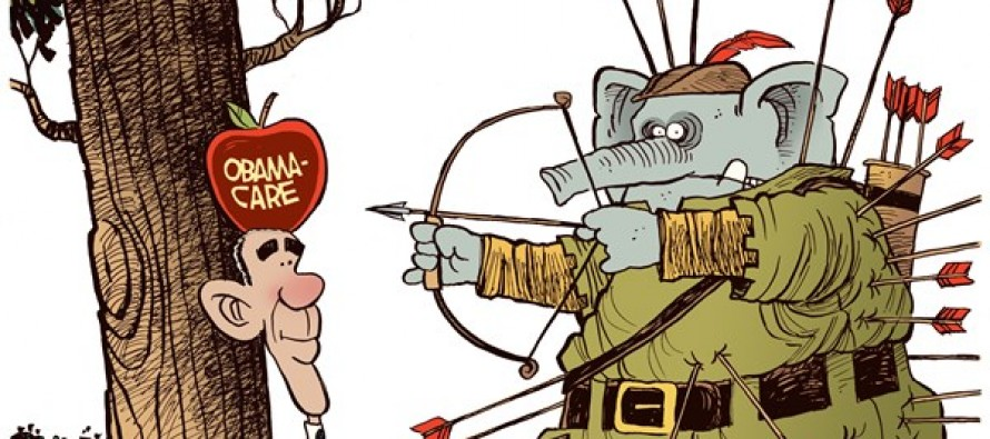 GOP Self-Inflicted Wounds (Cartoon)