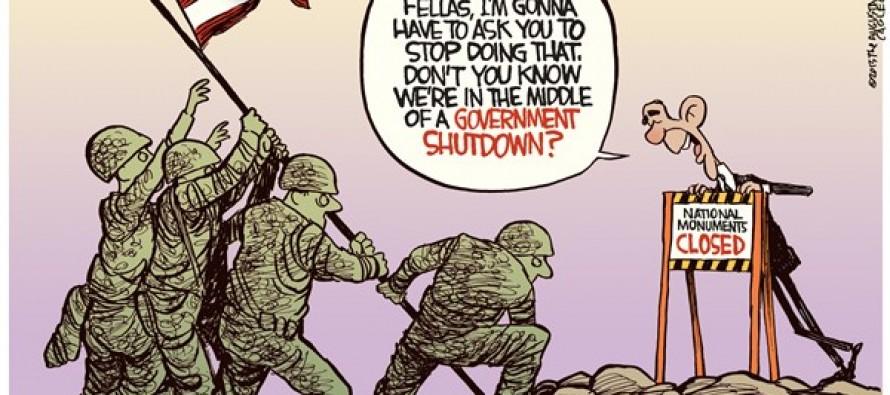 Monuments Shutdown (Cartoon)
