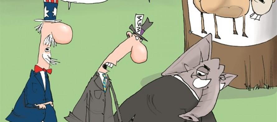 Media Blames GOP For Shutdown (Cartoon)