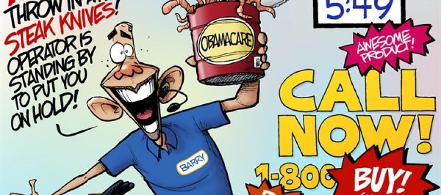 Obamacare Salesman (Cartoon)