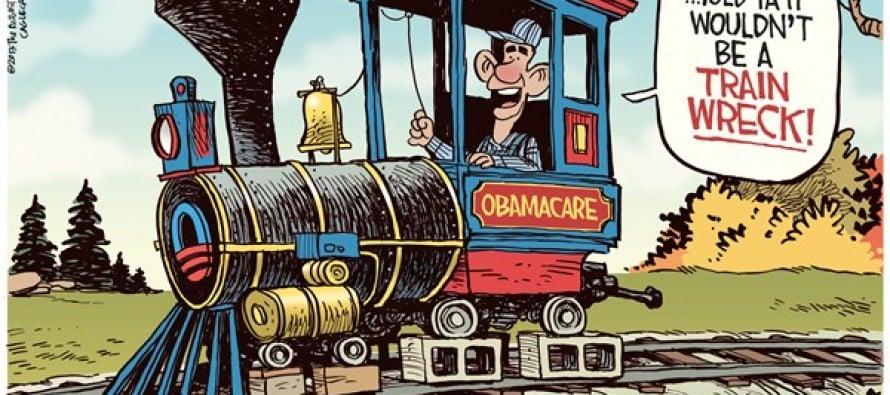 Obamacare Train (Cartoon)