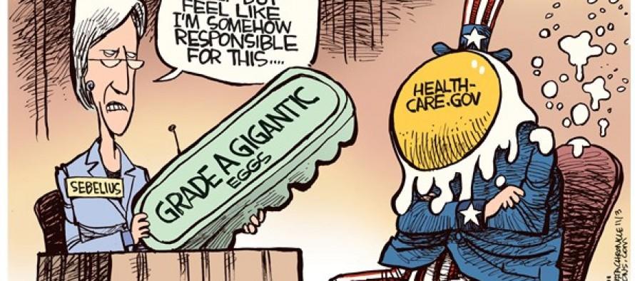 Sebelius Lays Egg (Cartoon)
