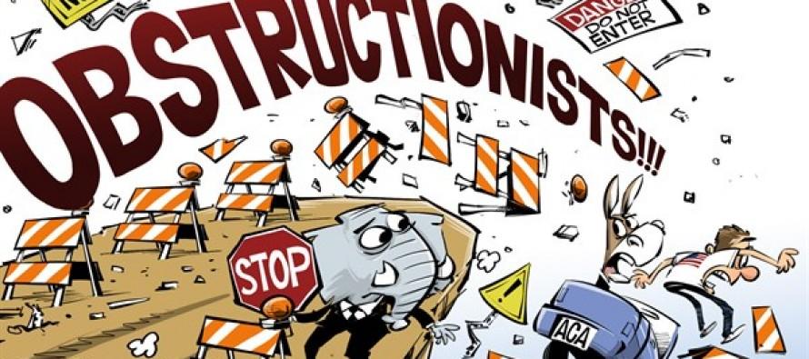 GOP obstructionists (Cartoon)