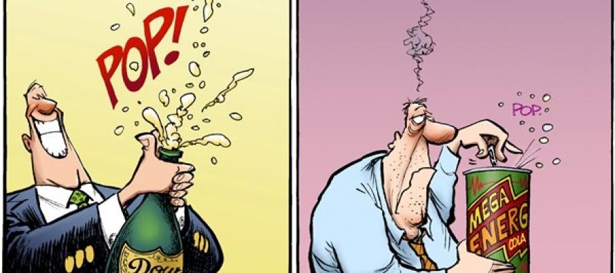 Dow Hits Record (Cartoon)