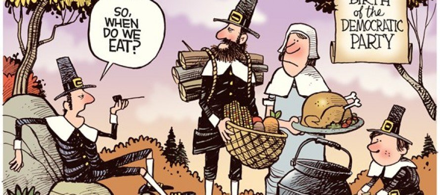 A Democrat Thanksgiving (Cartoon)