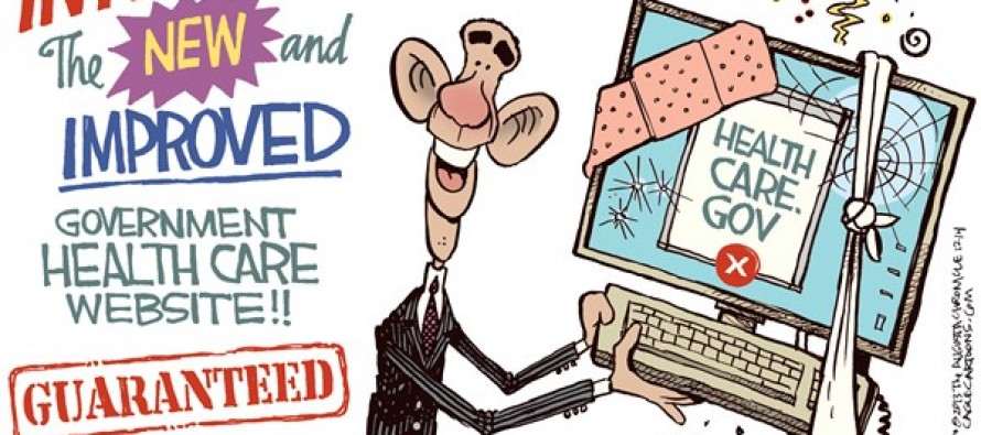 Obamacare Site Fixed (Cartoon)