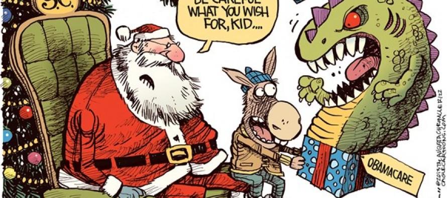 Obamacare Christmas (Cartoon)