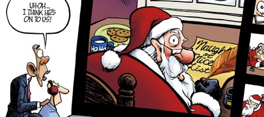 Santa Snooping (Cartoon)