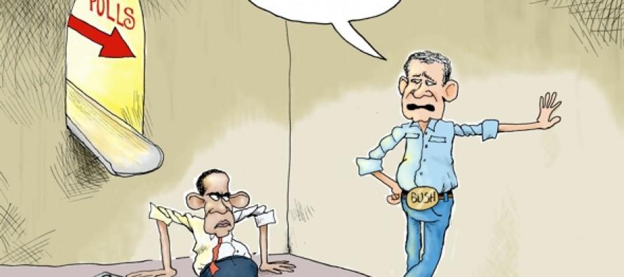 Slipping Polls (Cartoon)