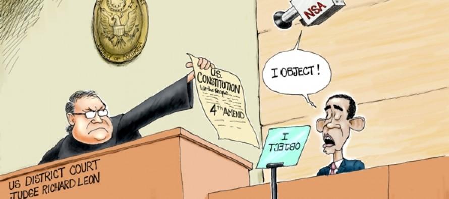 NSA Unconstitutional (Cartoon)