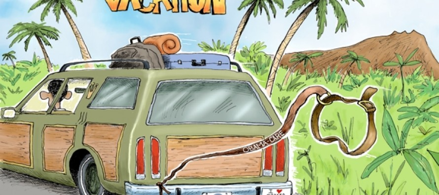 Obama's Vacation Unleashed (Cartoon)