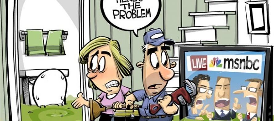 MSNBC Spew forward (Cartoon)