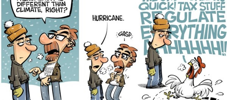 Climate vs weather (Cartoon)