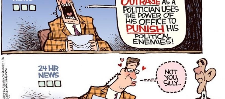 Obama vs Christie (Cartoon)