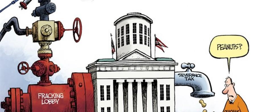 LOCAL OH – Fracking Tax (Cartoon)