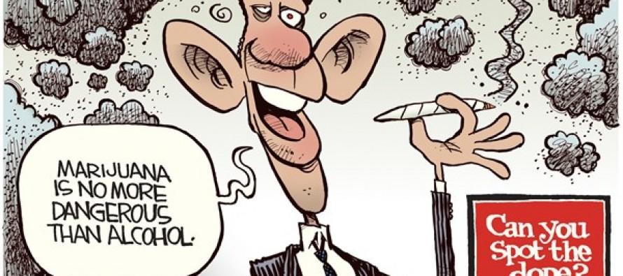 Obama Dope (Cartoon)