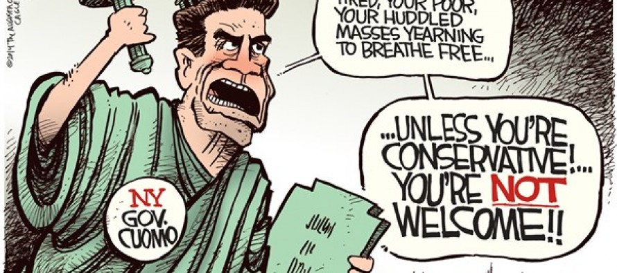 Cuomo Unwelcome (Cartoon)