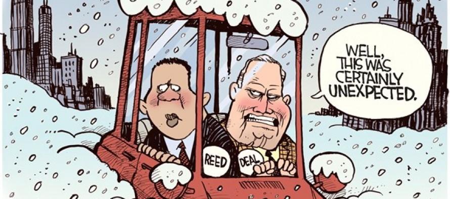 Unexpected Atlanta Snow (Cartoon)