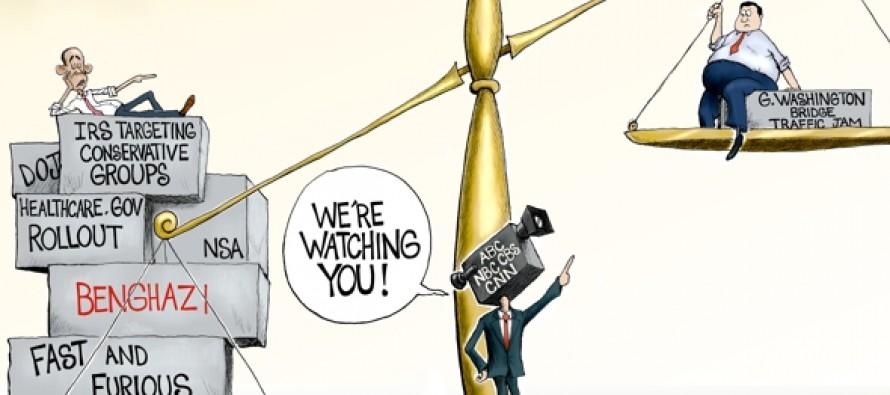 Media Justice in balance (Cartoon)