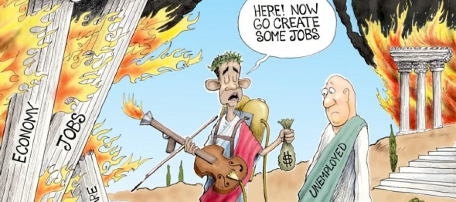 Fireman Cometh, Nero Obama (Cartoon)