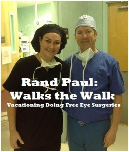 Rand Paul walk the walk