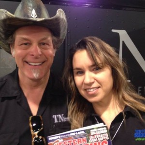 With Ted Nugent at SHOT Show
