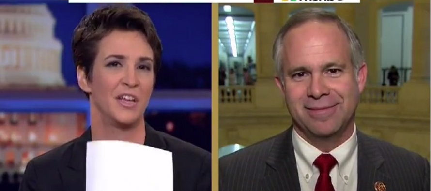 "GOP Rep. Tim Huelskamp To MSNBC's Rachel Maddow: ""You're A Cheerleader For The Administration, You're Not A Journalist""…"