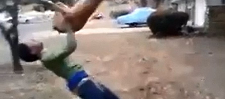 Two teens arrested for animal cruelty over shocking video that shows puppy being hurled & punched