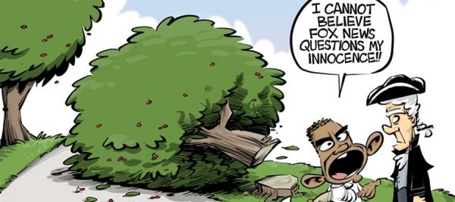Cannot tell a lie (Cartoon)