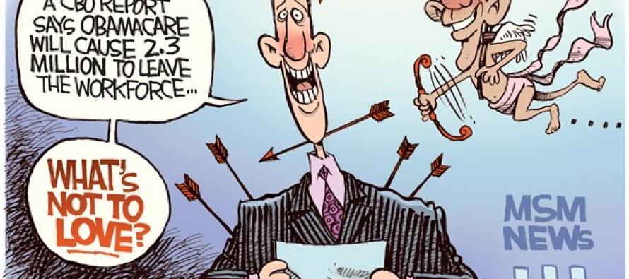 Obamacare Valentine (Cartoon)