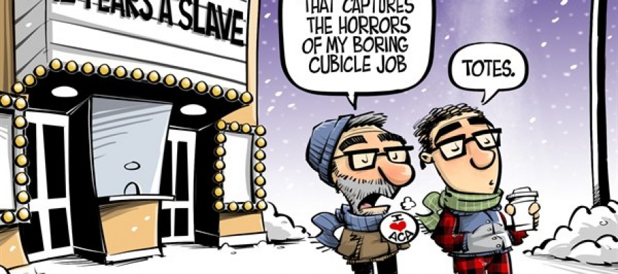 Just like slavery (Cartoon)