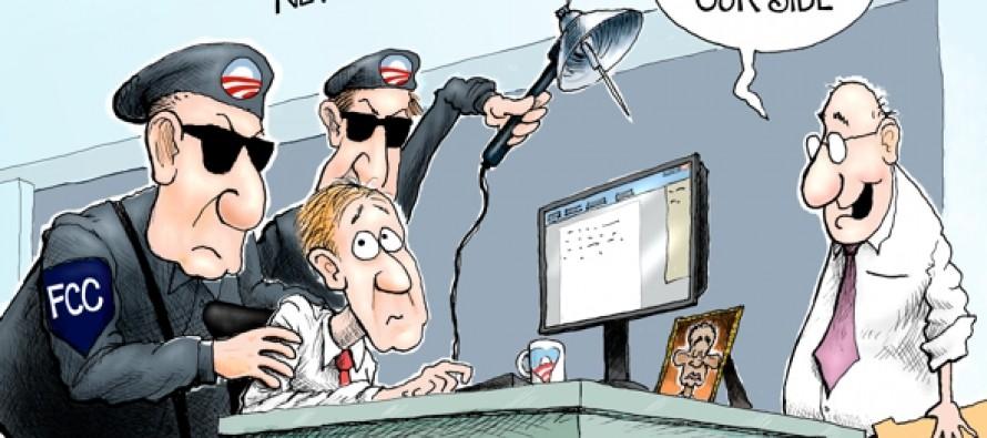 FCC Monitoring the Media (Cartoon)