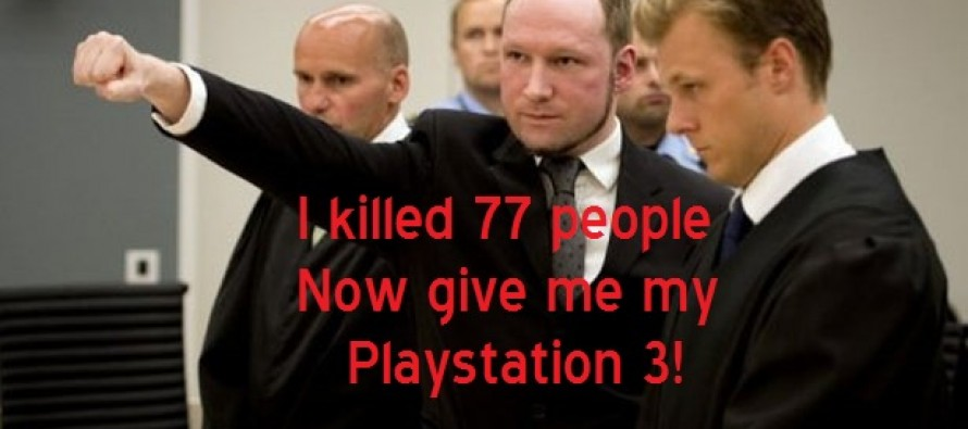 "Norway Mass Shooter Hunger Strike: I'm Being ""Tortured"" Without Play Station 3"