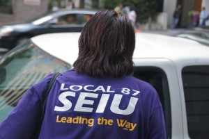 SEIU shirt from back