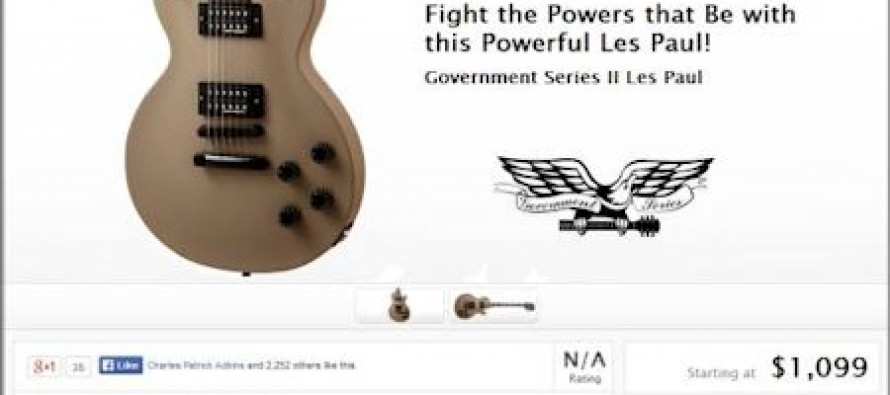 Gibson Guitar Defies Obama: Uses Wood Confiscated By DOJ To Produce Special Government Series Guitar