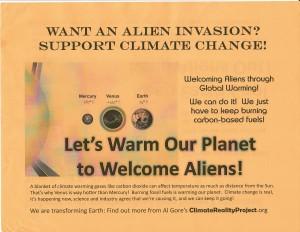 global warming aliens gore