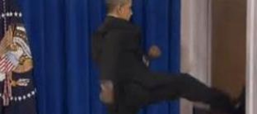 Student charged with racism, forced to apologize for image of Obama kicking door