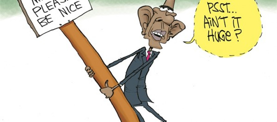 Obama's Big Stick (Cartoon)