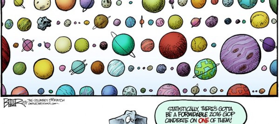 Planets and Politics (Cartoon)