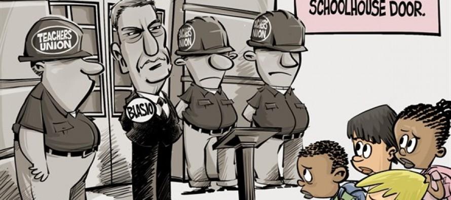 Stand at the school house door II (Cartoon)
