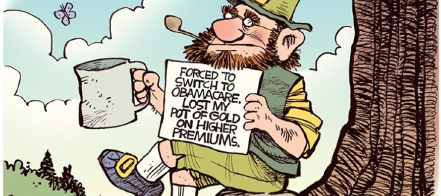 Obamacare Leprechaun (Cartoon)