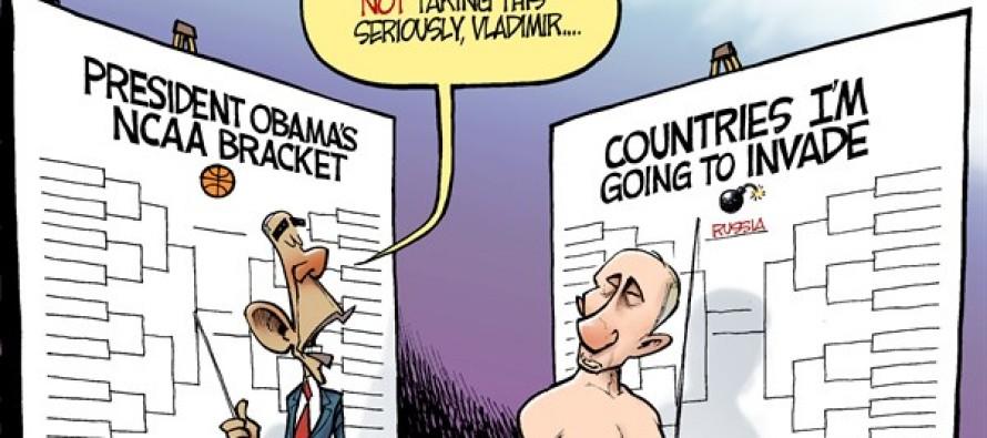 Brackets with Putin (Cartoon)