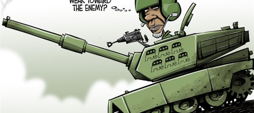 Fighting the enemy (Cartoon)