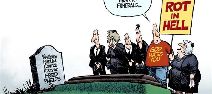 Fred Phelps Funeral (Cartoon)