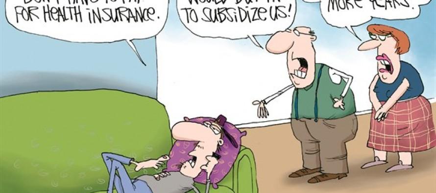 ObamaCare Family (Cartoon)
