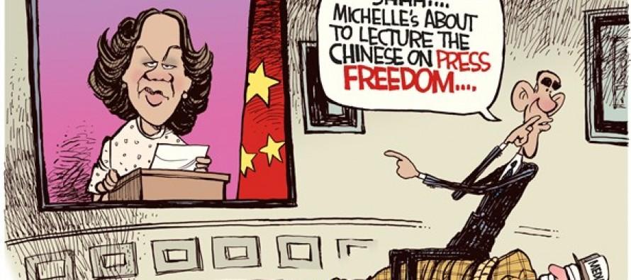 China Press Freedom  (Cartoon)