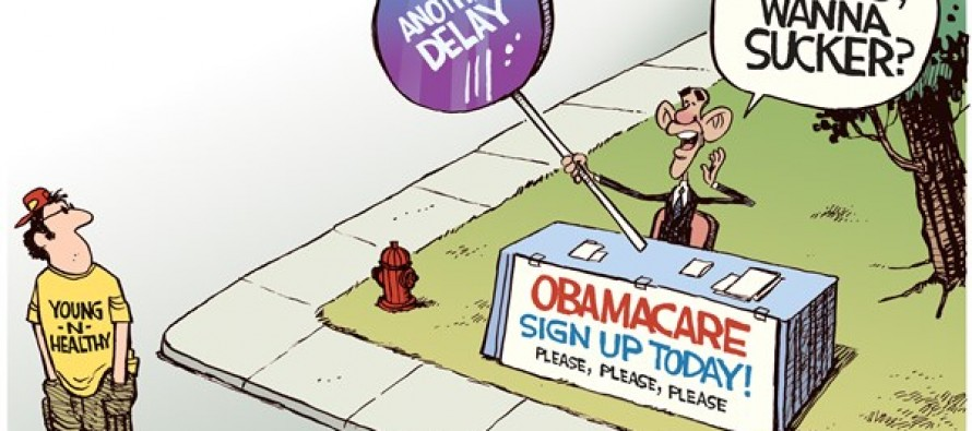 Yet Another Obamacare Delay (Cartoon)