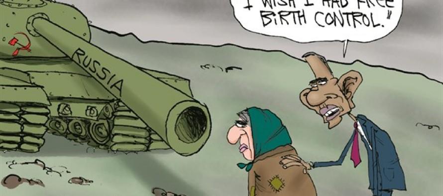 Obama Ukraine's Pain (Cartoon)